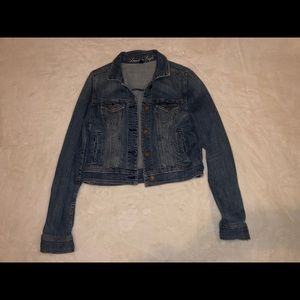 American Eagle Outfitters Cropped Jean Jacket